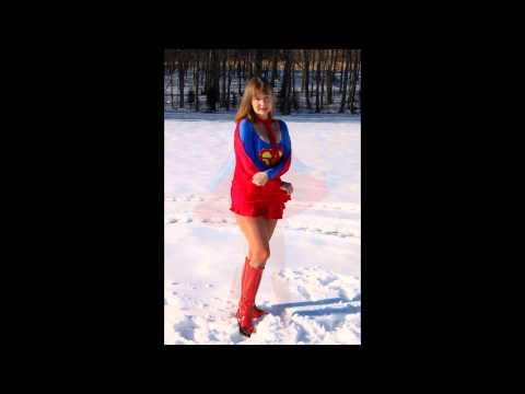 SuperBecca in the snow