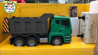 RC DUMP TRUCK LIFTING METAL UNBOXING || KID TOY TV  MODIFIED RC CONSTRUCTION VEHICLES REVIEW