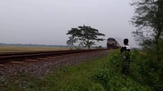 Intercity Silkcity Express passing Mirzapur .