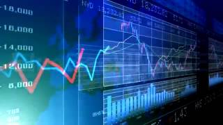 Stock Footage   Financial Business Graph Amb