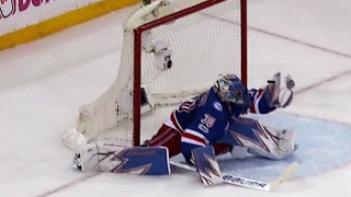 Lundqvist flashes the leather on Weber