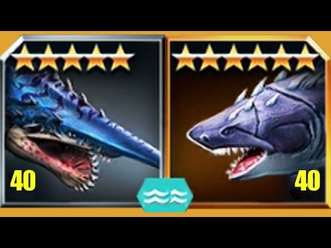 HELICOPRION VS MEGALODON - Jurassic World The Game