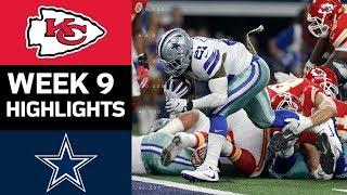 Chiefs vs. Cowboys | NFL Week 9 Game Highlights