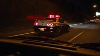 JAPAN'S R34 GT-R HIGHWAY PATROL CAR IS REAL AND STILL ACTIVE!