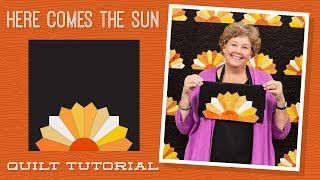 """Make a """"Here Comes the Sun"""" Dresden Quilt with Jenny Doan of Missouri Star (Instructional Video)"""