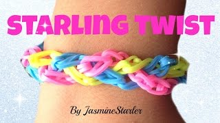 STARLING TWIST (Original design) Rainbow Loom Tutorial