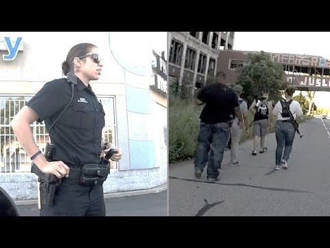 Open Carry in Detroit - Police and Packard Plant