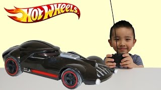 Hot Wheels RC Star Wars Darth Vader Car Unboxing/Playing With Ckn Toys Remote Control Toys