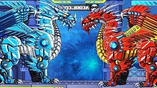 Robot Ice Dragon Vs Kangaroo Vs Turtle Vs Sickle Vs Red Dragon | Eftsei Gaming