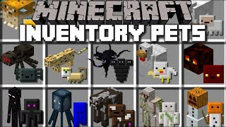 Minecraft INVENTORY PETS MOD / TRANSFORM MOBS IN TO PETS THAT YOU CAN USE !! Minecraft