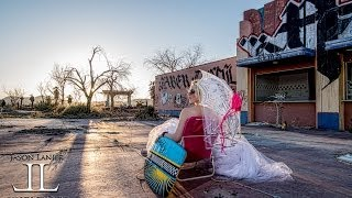 How to Shoot Wedding Photography in an Abandoned Rock a Hoola Water Park by Jason Lanier