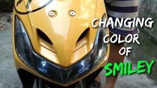 MOTORCYCLE VLOG / MIO SPORTY / HOW TO CHANGE COLOR OF SMILEY
