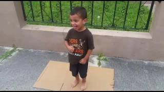4 year old MDPD running man challenge