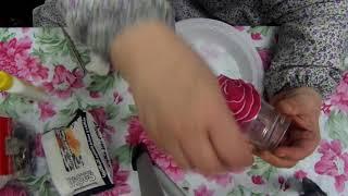 طريقة تزيين الزجاج بالقماش والستراس