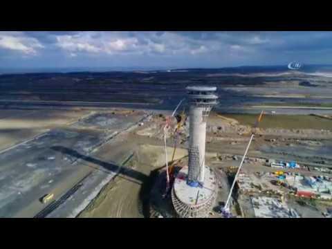 3. Havalimanı'nın Lale Figürlü Kulesi Havadan Görüntülendi