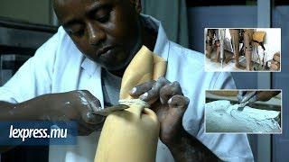 Amputé d'un pied: Curtis Malbrook, le fabriquant de prothèse