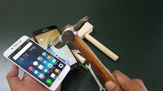 Vivo V5 vs Samsung J7 Prime Screen Scratch Test | Hammer Test !