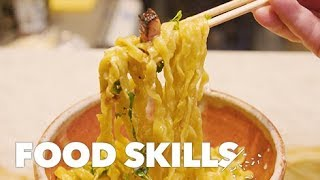 Understanding Mazemen, Japan's No-Broth Ramen | Food Skills