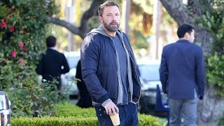 Ben Affleck Sips His Morning Coffee After Spending The Weekend With The Kiddies