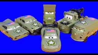 Disney Pixar Cars Army Doc Tells Army Car Lightning McQueen Mater Cars War 3 Filmore