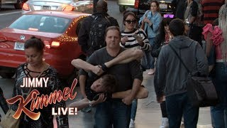 Cousin Sal & Contortionist Mess with People on Hollywood Blvd