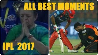 ALL BEST AND FUNNIEST MOMENTS OF IPL 2017 - IPL 10 Memorable Moments