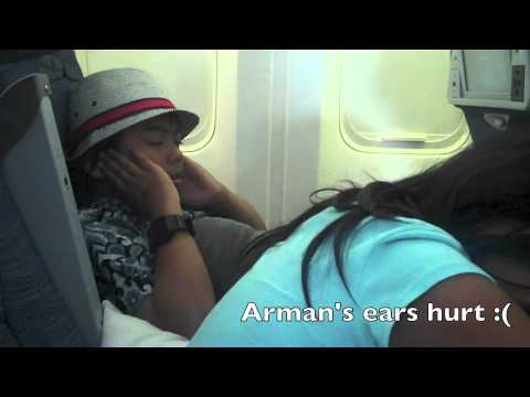 Melur and Arman Fly to Malaysia - July 2, 2012