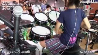 The Amazing & Very  Talented 13 Yr old Girl  Drummer  Kanade Sato - Japan Spectacular !