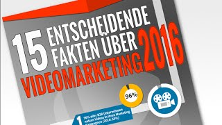 15 Fakten über Videomarketing 2016 (Video Infografik)