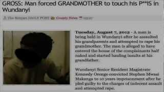 Man Forced Grandmother to Touch His Penis in Wundanyi