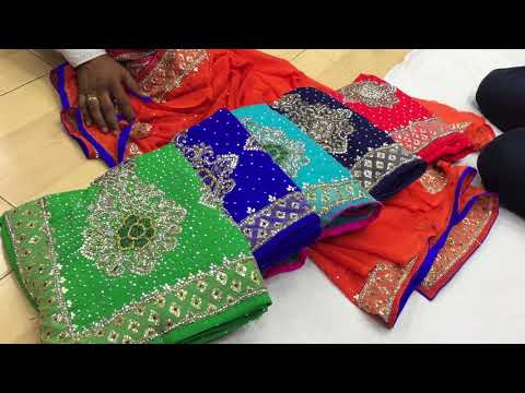 Xxx Mp4 Latest Designer Stone Work Sari For Wedding And Bridal Surat Saree In Wholesale Price5 3gp Sex
