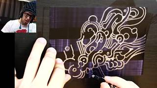 Drawing with Peter Draws: Shiny Chrome on Black Doodle (on Yupo Paper!)