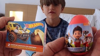 Hot Wheels and PAW Patrol Eggs from Toys R Us