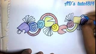 Colorful Alpona Ddesign(time laps) আল্পনা-আলপনা আঁকা