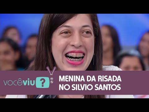 VOCÊ VIU?   Menina da risada engraçada participa do Programa Silvio Santos