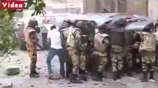 الفيديو الاصلي قبل تحريفة من اليوم السابع افراد الجيش والبلطجية حاولو يحرقوا الاخوان فحرقوا انفسهم