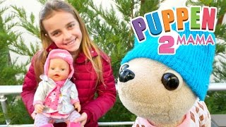 Puppen Mama - Ayça geht mit Rose und Lolli in den Garten