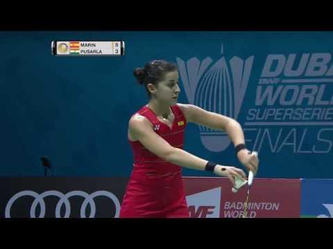 Dubai World Superseries Finals 2016 | Badminton QF M6-WS | Carolina Marin vs Pusarla V. Sindhu