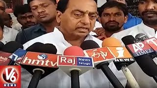 Minister Indrakaran Reddy Inspects Anantha Padmanabhaswamy Temple Lands || V6 News