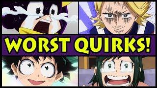 Top 10 Weakest Quirks in My Hero Academia! (Boku no Hero Academia Worst Quirk)