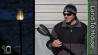 LED Solar Torch Light