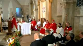 """Le Pape au Cénacle :  """"Ici est née l"""