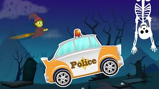 Police Car Adventures | Haunted Video | Scary Video for Kids