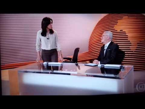 Vexame de Alexandre Garcia ao vivo no Bom dia Brasil