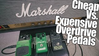 Cheap Vs. Expensive Overdrive Pedals!