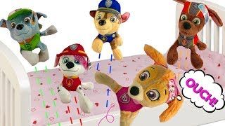 Learn Paw Patrol 5 Little Monkey on the Bed Nursery Rhymes Songs for Children | Fizzy Fun Toys