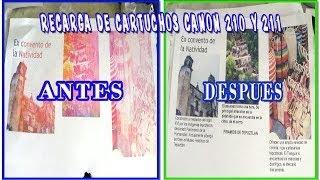 RECARGA DE CARTUCHOS CANON 210 Y 211