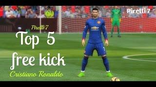 FIFA 15: Cristiano Ronaldo ● Top 5 free kick ● HD  (Fifa Remake)