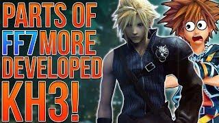 Parts of Final Fantasy 7 Remake More Developed Than Kingdom Hearts 3!