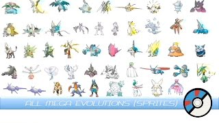 All Mega Evolutions (Animated Sprites) メガシンカ